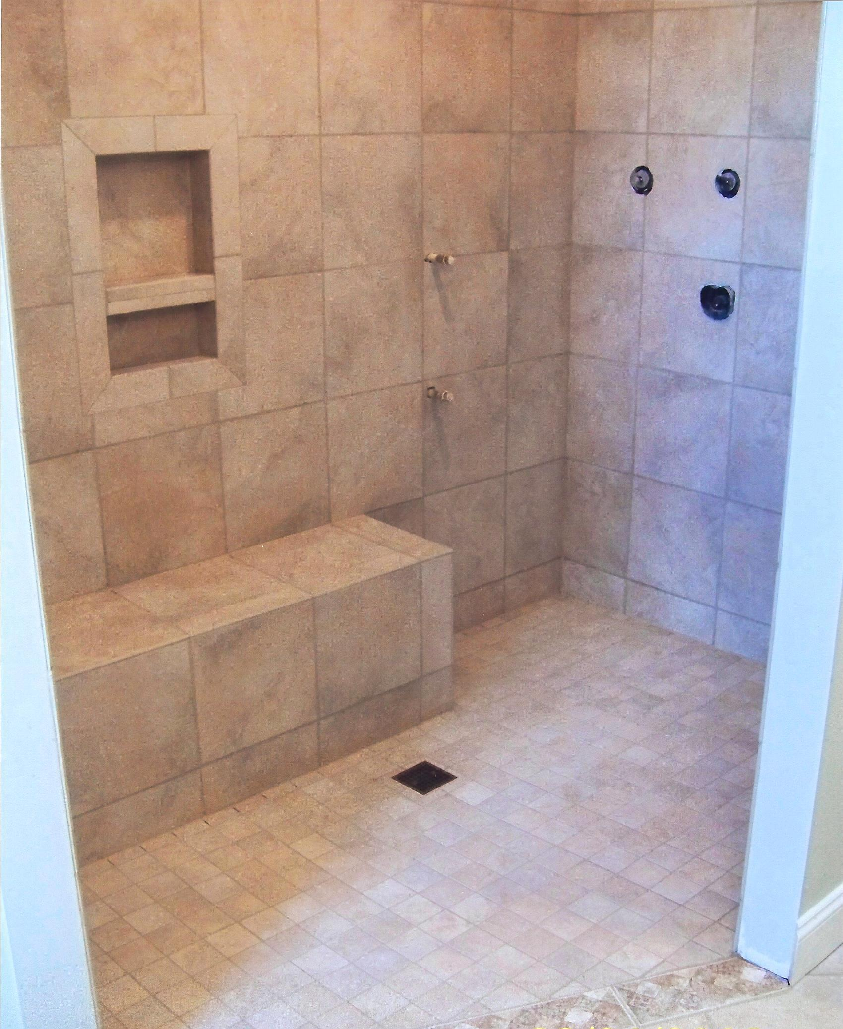 Shower With Combo Niche And Bench