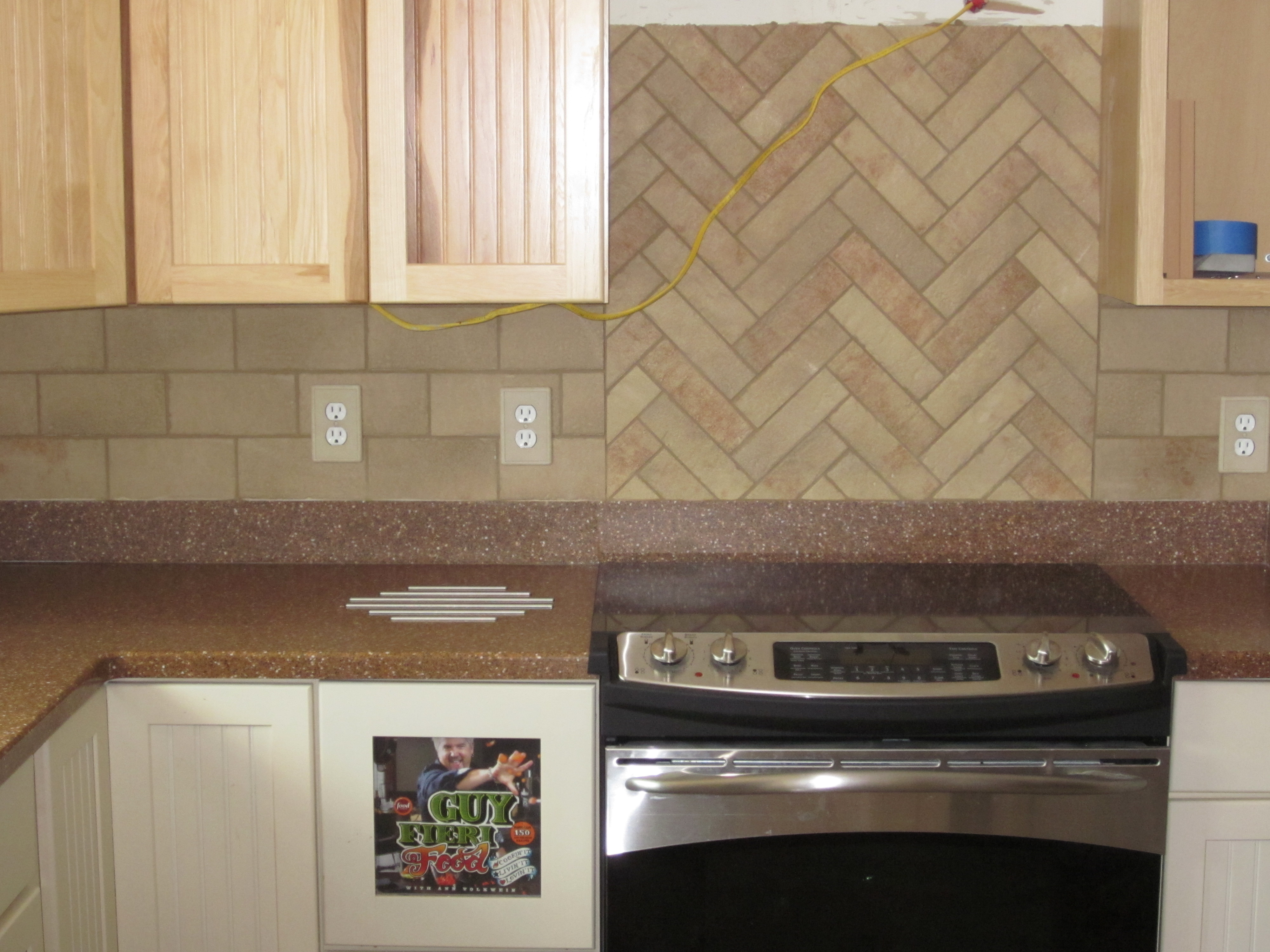 Tile Backsplash Bricklay Pattern Home Decorating Ideas